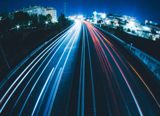 Autovía de luz